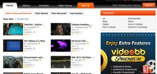 Videobb, servicio de alojamiento de vídeos similar a MegaVideo