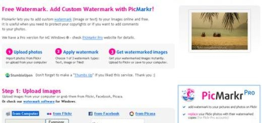 PicMarkr, Herramienta online para señalar tus imagenes con una marca de agua