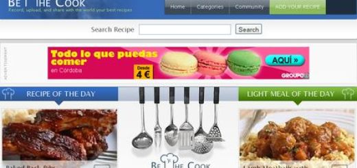 BeTheCook, Red social para compartir videos de recetas