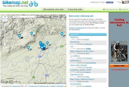Bikemap, Comparte y descubre rutas para realizar en bici