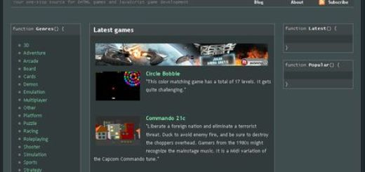 Javascript Gaming, Directorio de juegos desarrollados en javascript