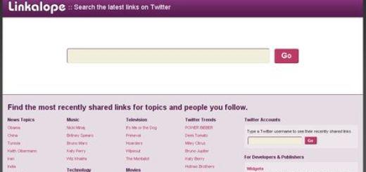 Linkalope, Potente buscador de enlaces compartidos en Twitter