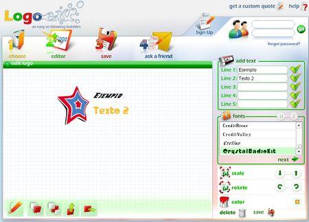 Logo ease generador online y gratuito de logotipos soft for Generador de logos
