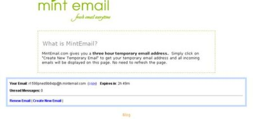 MintEmail, Consigue un correo temporal con un solo clic