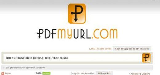 PDFmyURL, Convierte online una pagina web en documento pdf