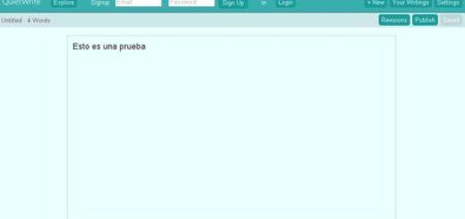 QuietWrite, Sencillo editor de texto online
