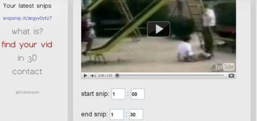 SnipSnip.It, Recorta los videos de YouTube antes de compartirlos