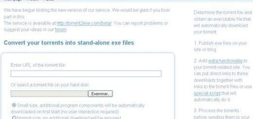Torrent2Exe, Convierte torrents en exe para luego realizar descargas sin programa cliente