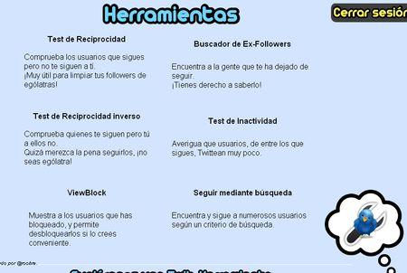 Twit-Herramientas, Pack de utilidades para Twitter