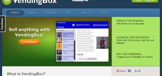 VendingBox, Crea una tienda online que se integra con Facebook