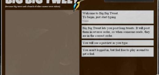BigBigTweet, Enviar tweets de más de 140 caracteres