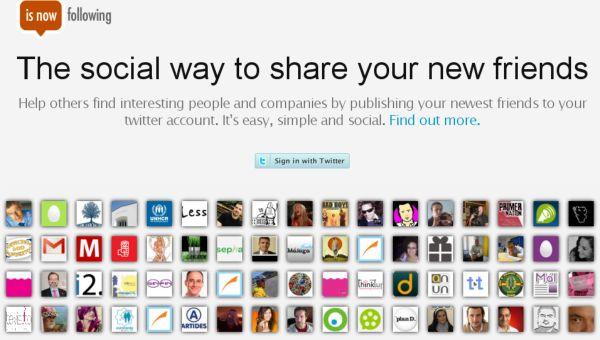 IsNowFollowing, comparte los usuarios que comienzas a seguir en Twitter