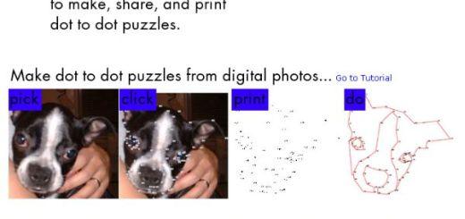 PictureDots, Crea pasatiempos con dibujos para unir los puntos
