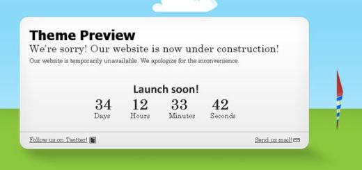 Ready2Launch, Tema de WordPress para un blog en construcción