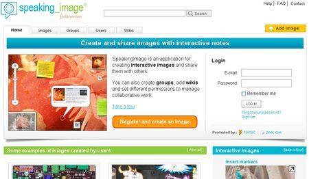 SpeakingImage, Crea imagenes interactivas con anotaciones