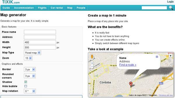 Tixik, Generador de mapas para incluir en tu web