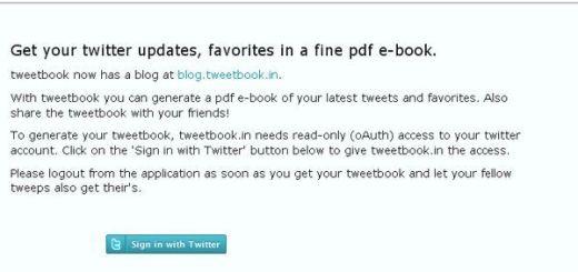 TweetBook, Exporta todos tus tweets a documento pdf