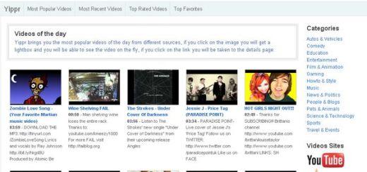 Yippr, Directorio que recopila los mejores vídeos de los sitios más populares