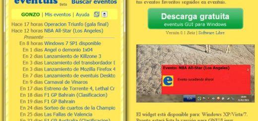 Widget eventuis GUI, Recibe avisos de eventos y actividades interesantes en tu Escritorio