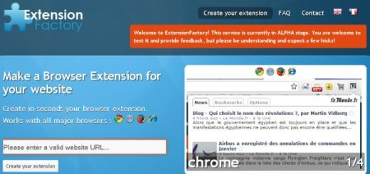 Extension Factory, Crea extensiones para Navegador de tu sitio sin programar