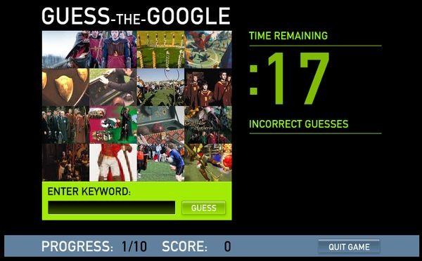Guess the Google, Piensa como Google si quieres ganar en este juego