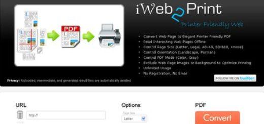iWeb2Print, Convierte cualquier pagina web en PDF