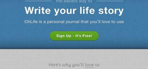 OhLife, Lleva un diario personal desde tu cuenta de email