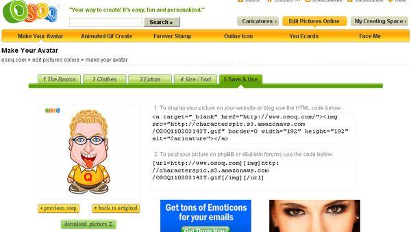 Osoq, Crea online divertidos avatares animados