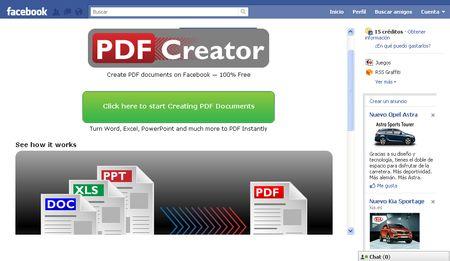 PDF Creator: Convierte a PDF documentos Word, Excel y PowerPoint desde Facebook