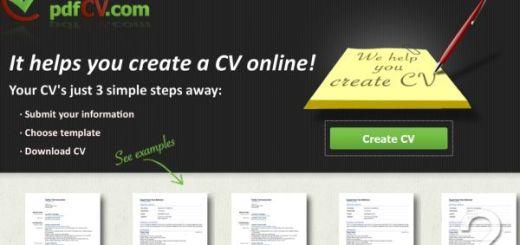 pdfCV, Herramienta para crear un curriculum online