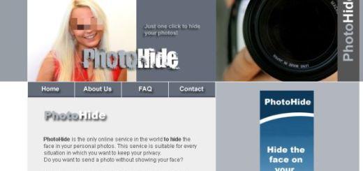 PhotoHide, Herramienta web para difuminar partes de una imagen que queremos ocultar