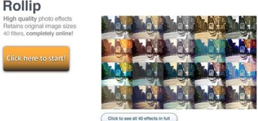 Rollip, Herramienta online con cuarenta efectos para mejorar tus fotos