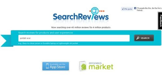 SearchReviews, Revisiones de productos y experiencias de usuarios