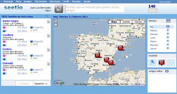 Seetio, Red social para quedar y saber donde quedan tus amigos