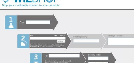 WizDrop, Comparte archivos multimedia por email