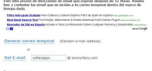 Anonymbox, otro servicio gratuito de correo temporal