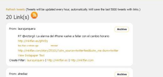 LinkReduce, filtra tu timeline para que sólo muestre tweets con enlaces