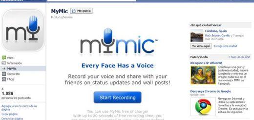 MyMic, publica mensajes de voz en el muro de Facebook