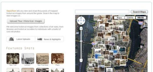 SepiaTown, fotos antiguas geolocalizadas de ciudades del mundo