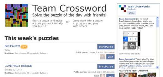 TeamCrossword, resuelve crucigramas online de forma colectiva