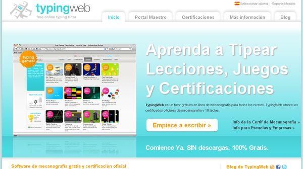 Typingweb, otra opción online para aprender mecanografía