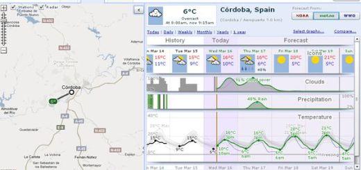 WeatherSpark, la mejor opción para conocer la previsión meteorológica