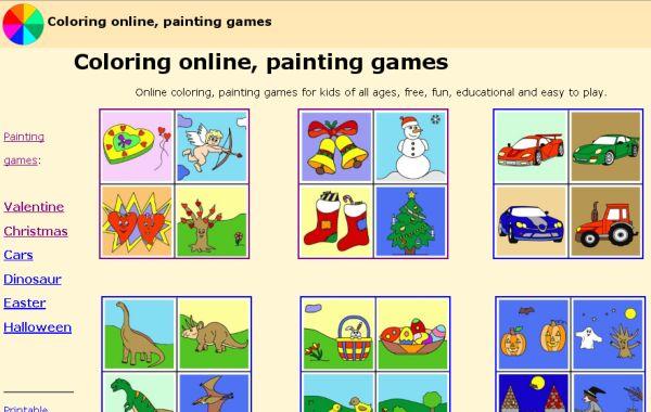 Coloring, Dibujos online para colorear para los más pequeños