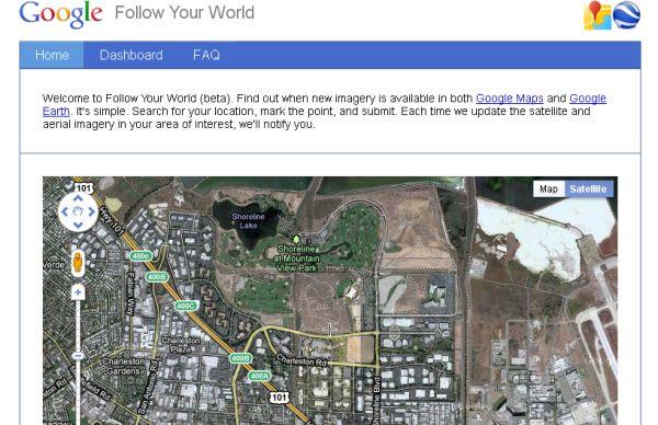 Recibe avisos cuando se actualicen las imágenes de satélite en Google Maps y Earth