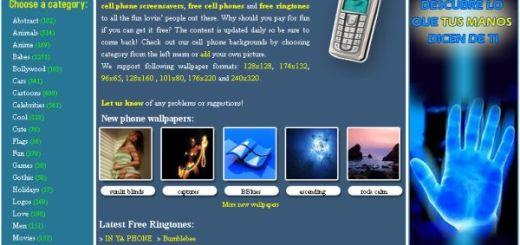 FreeMobileFun, más de 10000 fondos de pantalla gratuitos para móviles