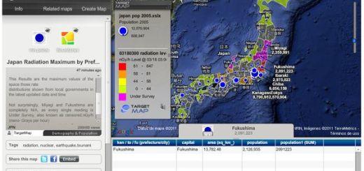 Mapa interactivo de la radiactividad en Japón