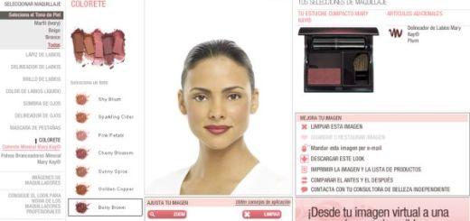 Maquillaje Virtual, un probador online de maquillaje