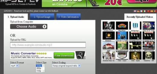 MP32FLV, Crea un vídeo a partir de un mp3 y subelo a YouTube