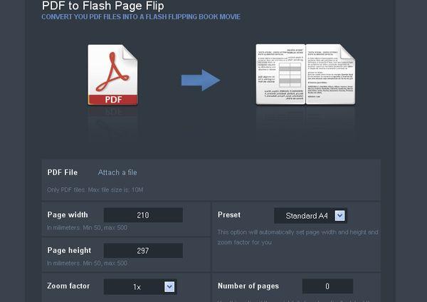 PDFtoFlash, convierte documentos pdf en un libro en flash