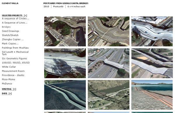 Colección de postales de puentes con imágenes de Google Earth